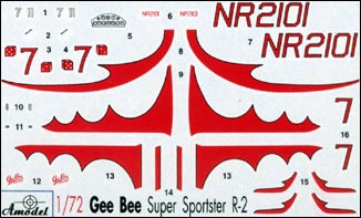 1/72 A-model 72114 Gee Bee Super Sportster R2 Aircraft