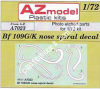 1/72 AZ model 7023 BF 109G/K Nose Spiral Decal