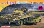 1/72 Dragon 7434 Sd.Kfz.181 Tiger I Mid Production w/Zimmerit & Kubelwagen