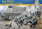 1/35 Italeri 6549 Steyr RSO/01 with German Soldiers and accessories