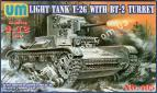 1/72 UMmt 405 Light tank T-26 with BT-2 turret
