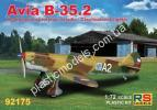 1/72 RS models 92175 Avia B-35.2 Czechoslovak fighter