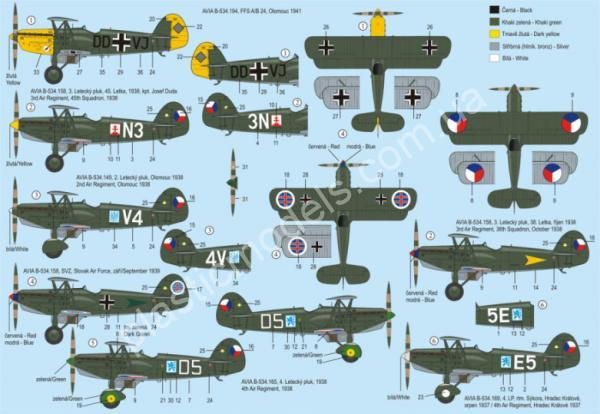 1/72 RS models 92079 Avia B.534 III. version