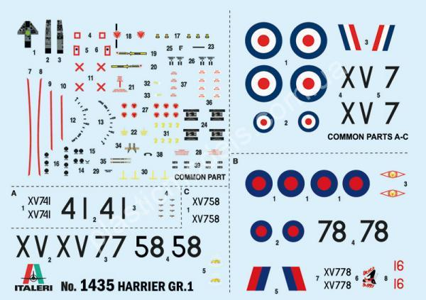 1/72 Italeri 1435 Harrier Gr.1 Transatlantic Air Race 50th Ann.