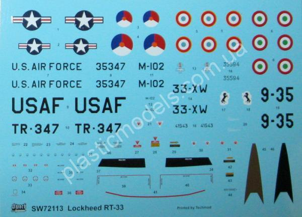1/72 Sword 72113 Lockheed RT-33