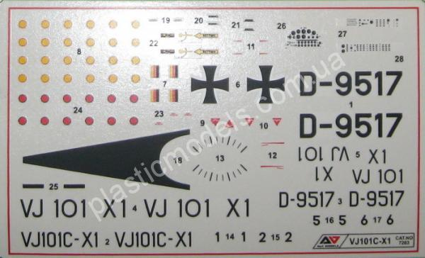 1/72 A&A Models 7203 VJ101C-X1  Supersonic VTOL fighter