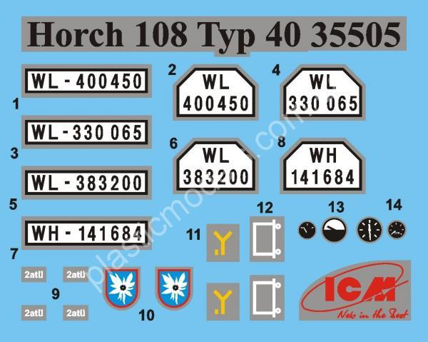 1/35 ICM 35505 Horch 108 Typ 40, WWII German Personnel Car