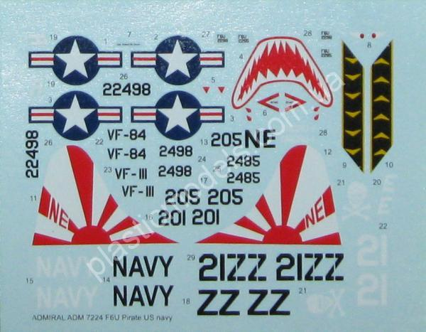 1/72 Admiral 7224 F6U -1 Pirate  US Navy