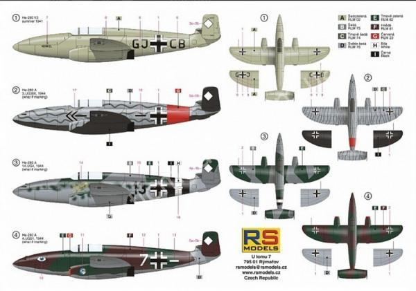 1/72 RS models 92149 Heinkel He 280 V3