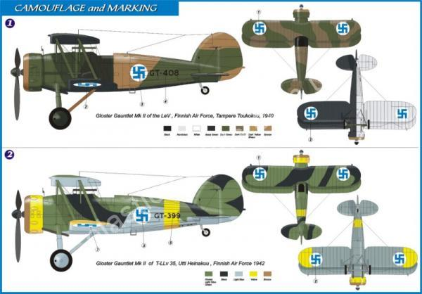 1/72 AZ model 7222 Gloster Gauntlet