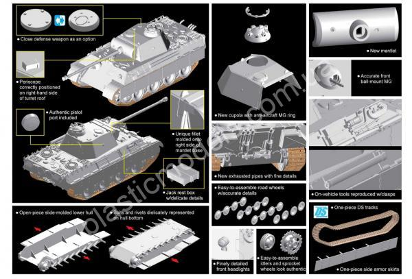 1/72 Dragon 7505 Sd.Kfz.171 Panther Ausf. A Late Production