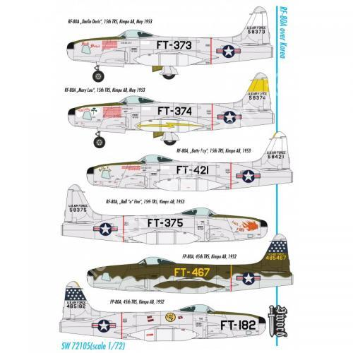 1/72 Sword 72105 Lockheed RF-80A over Korea
