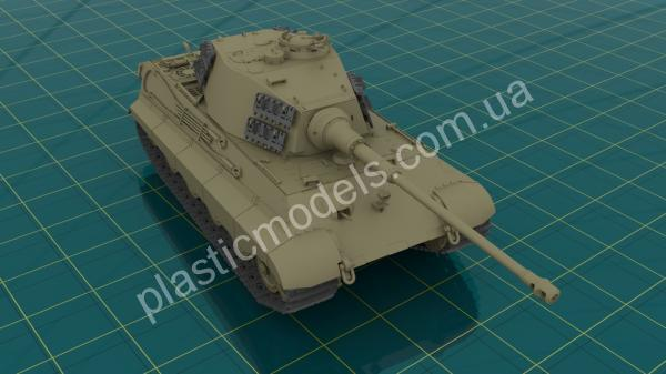 1/35 ICM 35363 Pz.Kpfw.VI Ausf.B Königstiger with Henschel Turret (late production), WWII German Heavy Tank
