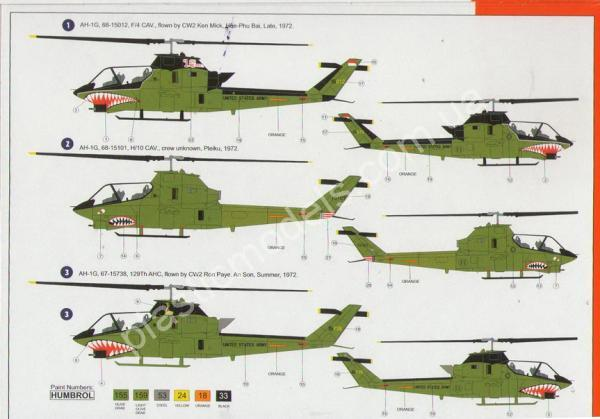 1/72 AZ model 7417 AH-1G Late Vietnam war