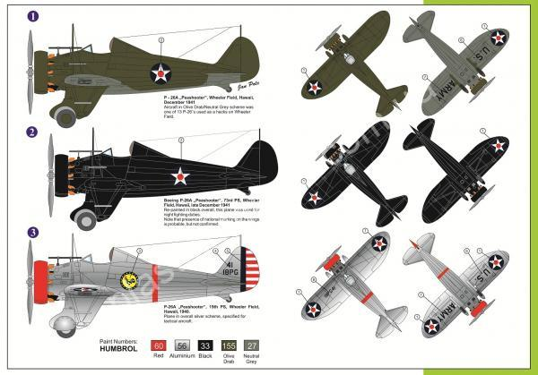 1/72 Legato 7218 Boeing P-26A Hawaian Peashooters
