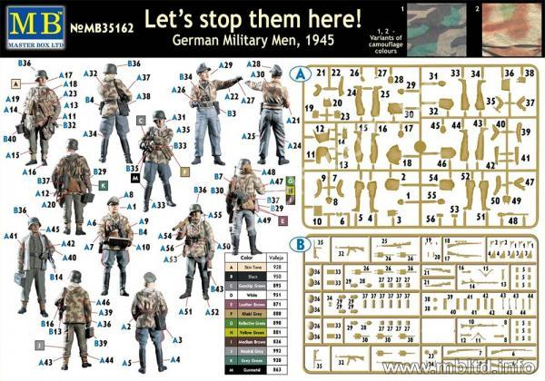 1/35 Master Box 35162 German Military Men, 1945 Let's stop them here!