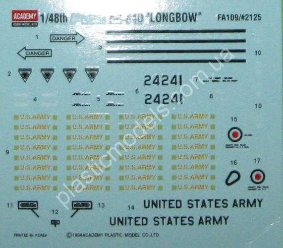 1/48 Academy 12268 Helicopter AH-64D Longbow