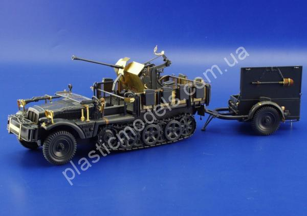 1/35 Eduard 35693 Sd. Kfz.10/4 with Flak 30 for kit: ITALERI