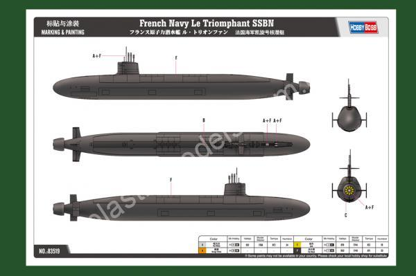 1/350 HobbyBoos 83519 French Navy Le Triomphant SSBN